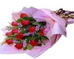11 adet kirmizi güllerden görsel buket  Rize 14 şubat sevgililer günü çiçek