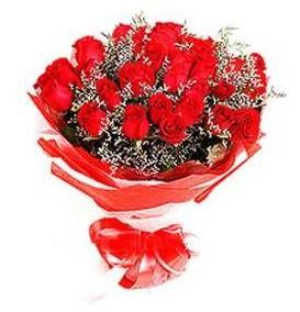 Rize çiçekçiler  12 adet kırmızı güllerden görsel buket