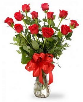 Rize çiçek mağazası , çiçekçi adresleri  12 adet kırmızı güllerden vazo tanzimi