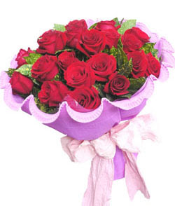 12 adet kırmızı gülden görsel buket  Rize yurtiçi ve yurtdışı çiçek siparişi