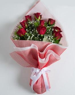 9 adet kırmızı gülden buket  Rize çiçek servisi , çiçekçi adresleri