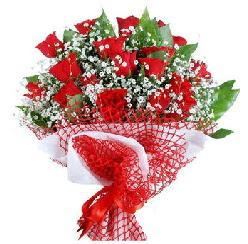11 kırmızı gülden buket  Rize ucuz çiçek gönder