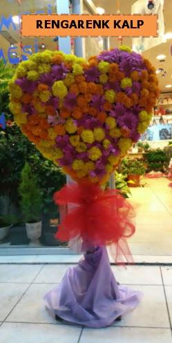 Ankara mevsim çiçeklerinden kalp perförje  Rize çiçek online çiçek siparişi