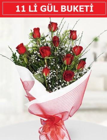 11 adet kırmızı gül buketi Aşk budur  Rize 14 şubat sevgililer günü çiçek