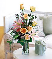 Rize çiçek mağazası , çiçekçi adresleri  cam yada mika vazo içerisinde gül kazablanka