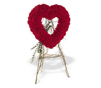 Rize çiçek yolla , çiçek gönder , çiçekçi   karanfillerden kalp pano
