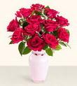 Rize güvenli kaliteli hızlı çiçek  10 kirmizi gül cam yada mika vazo tanzim