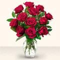 Rize anneler günü çiçek yolla  10 adet gül cam yada mika vazo da