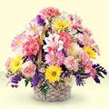 Rize çiçek , çiçekçi , çiçekçilik  sepet içerisinde gül ve mevsim