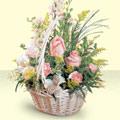 Rize ucuz çiçek gönder  sepette pembe güller