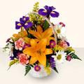 Rize ucuz çiçek gönder  sepet içinde karisik çiçekler
