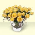 Rize çiçek online çiçek siparişi  11 adet sari gül cam yada mika vazo içinde