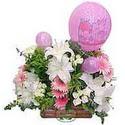 balon ve çiçeklerle tanzim  Rize çiçek yolla , çiçek gönder , çiçekçi