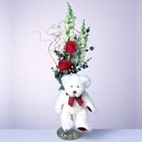 2 adet gül ve panda özel  Rize yurtiçi ve yurtdışı çiçek siparişi