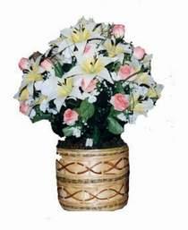 yapay karisik çiçek sepeti   Rize internetten çiçek satışı