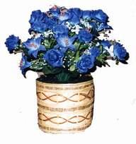yapay mavi çiçek sepeti  Rize çiçek satışı