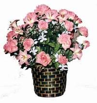 yapay karisik çiçek sepeti  Rize çiçek siparişi sitesi