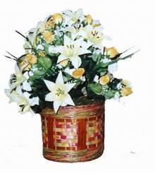 yapay karisik çiçek sepeti   Rize çiçek satışı
