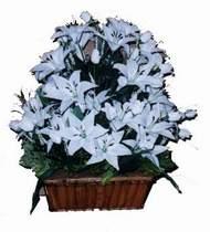 yapay karisik çiçek sepeti   Rize çiçek gönderme