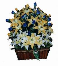 yapay karisik çiçek sepeti   Rize hediye sevgilime hediye çiçek