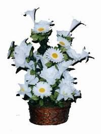 yapay karisik çiçek sepeti  Rize çiçek yolla