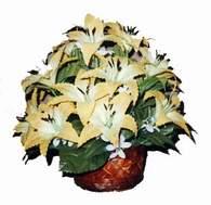 yapay karisik çiçek sepeti   Rize online çiçekçi , çiçek siparişi