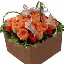 kare sandikta 11 gülllerden   Rize yurtiçi ve yurtdışı çiçek siparişi
