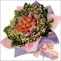 11  adet  gül ve   elyaflar   Rize yurtiçi ve yurtdışı çiçek siparişi