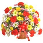 karisik renkli çiçek sepet   Rize 14 şubat sevgililer günü çiçek