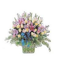 sepette kazablanka ve güller   Rize hediye sevgilime hediye çiçek