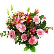 lilyum ve gerbera çiçekleri - çiçek seçimi -  Rize hediye sevgilime hediye çiçek