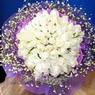 71 adet beyaz gül buketi   Rize çiçek mağazası , çiçekçi adresleri
