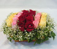 15 adet reprenkli gül sepeti   Rize anneler günü çiçek yolla