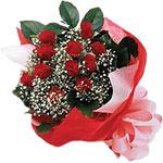 Rize çiçek yolla , çiçek gönder , çiçekçi   KIRMIZI AMBALAJ BUKETINDE 12 ADET GÜL