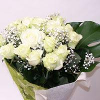 Rize güvenli kaliteli hızlı çiçek  11 adet sade beyaz gül buketi