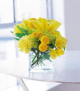 Rize kaliteli taze ve ucuz çiçekler  sarinin sihri cam içinde görsel sade çiçekler
