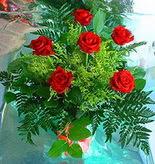 6 adet kirmizi gül buketi   Rize çiçek gönderme