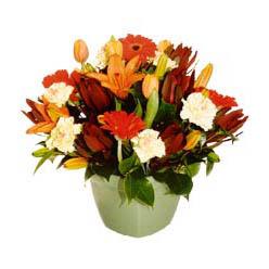 mevsim çiçeklerinden karma aranjman  Rize cicekciler , cicek siparisi