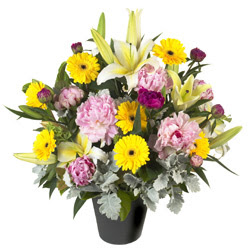 karisik mevsim çiçeklerinden vazo tanzimi  Rize çiçek , çiçekçi , çiçekçilik