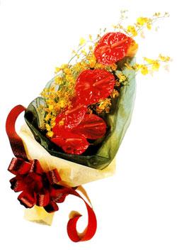 özel 5 adet antorium buketi   Rize 14 şubat sevgililer günü çiçek