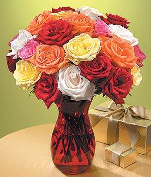 Rize hediye çiçek yolla  13 adet renkli gül
