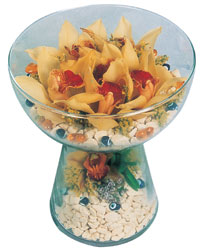Rize online çiçekçi , çiçek siparişi  Cam içerisinde 4 adet kandil orkide