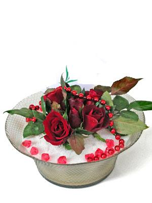 Rize çiçek yolla  EN ÇOK Sevenlere 7 adet kirmizi gül mika yada cam tanzim