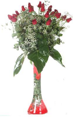 Rize çiçek , çiçekçi , çiçekçilik  19 ADET GÜL VE FIL CAM AYAGI