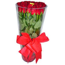 Rize çiçek siparişi sitesi  12 adet kirmizi gül cam yada mika vazo tanzim