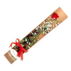 Rize çiçek mağazası , çiçekçi adresleri  Kutuda tek 1 adet kirmizi gül çiçegi