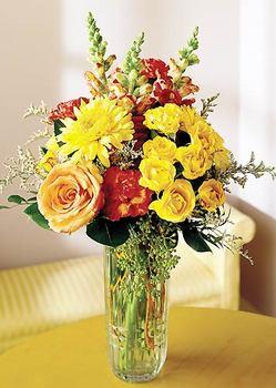 Rize ucuz çiçek gönder  mika yada cam içerisinde karisik mevsim çiçekleri