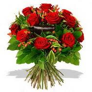 9 adet kirmizi gül ve kir çiçekleri  Rize çiçek yolla , çiçek gönder , çiçekçi