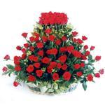 Rize internetten çiçek siparişi  41 adet kirmizi gülden sepet tanzimi