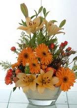 Rize internetten çiçek satışı  cam yada mika vazo içinde karisik mevsim çiçekleri